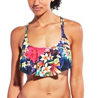 CALIA by Carrie Underwood Women's Printed Flouncy Racerback Bikini Top | CALIA Studio