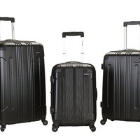 F190-BLACK 3 Pc Sonic Abs Upright Luggage Set