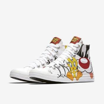DCCK1IN the converse chuck taylor all star sylvester tweety high top unisex shoe