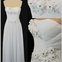 2013 New Fashion Strapless Beading Floor Length Sexy Prom Dress