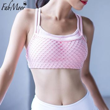 Sexy Compression Sports Bra Top Women Honeycomb Fabric Gym Fitness Yoga Bra  Padded Sports Top Running Underwear Sport Brassiere
