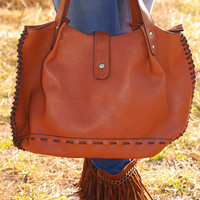 I'll See You Later Purse: Brown - One