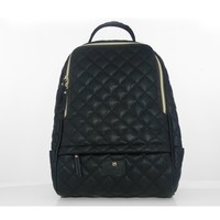 Black Quilted Lining Large Backpack