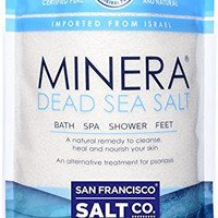 Minera Dead Sea Salt, 10lbs Fine Grain. 100% Pure and Certified. Natural treatment for psoriasis, eczema, acne and more