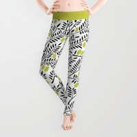 Little Lemons Leggings by Cat Coquillette