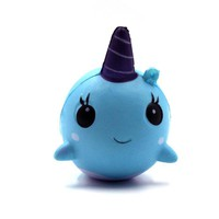 Narwhal Squishy Millie Uni Whale Slow Rising Phone Strap Scented