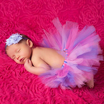 Sleeping Princess Photography Baby Costume with headband Couture Skirt