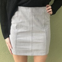 Hooked On You Skirt- Grey