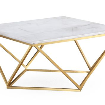 CARNA WHITE MARBLE COCKTAIL TABLE