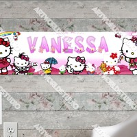 Personalized/Customized Hello Kitty #1 Poster, Border Mat and Frame Options Banner 103