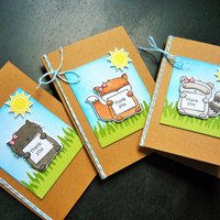 Woodland Friends Card Set, Fox Thank You Card Set, Raccoon Card