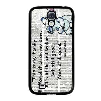 LILO AND STITCH QUOTES Disney Samsung Galaxy S4 Case