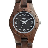 WeWOOD 'Moon Deneb' Wood Bracelet Watch, 29mm - Chocolate