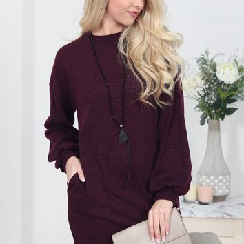 Rich Plum Pocket Dress