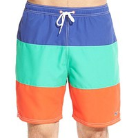 Men's Vineyard Vines Pieced Colorblock Swim Trunks,