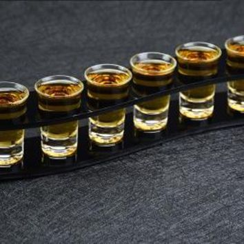6 Pcs Set Liquor Shot Glass and Holder
