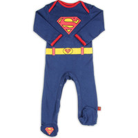 Superman Infant Costume Footed Coverall