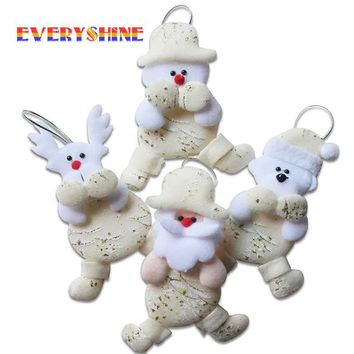 1pcs Christmas Tree Hanging Ornaments of Santa, Bear, Snowman or Elk