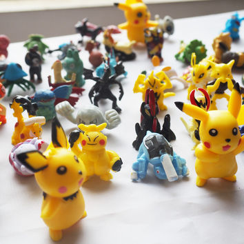 Pokemon Mini Pikachu Minifigure Action Figures For Gift Anime Pocket Monster Doll doll Puppets Child's play hand dolls Toys