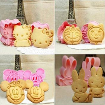 Cartoon Biscuit Baking Mould | 3D Cookie Cutter