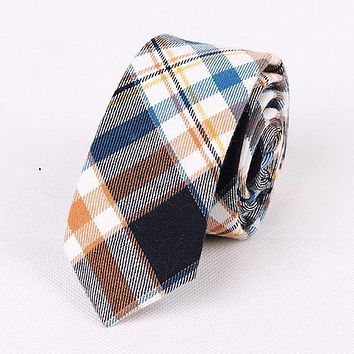 Mantieqingway Newly Plaid Tie Men Casual Business Suit Neck Tie Slim Gravatas Male Fashion Cotton Ties for Men Wedding Bow Tie