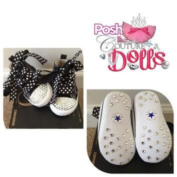 Posh Princess Couture Bling Custom Converse Infant Booties