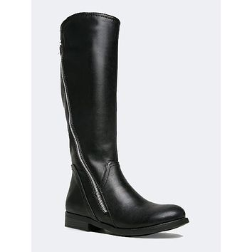 Zipper Knee High Boot