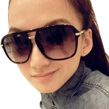 Women Retro Vintage Classic Elegant Oversized Lenses Glasses Sunglasses = 1946377028