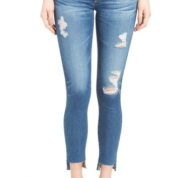 AG The Legging Step Hem Ankle Skinny Jeans (Radiant Blue) | Nordstrom