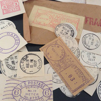 Vintage Post Marks from the 1920s & 1930s - Ephemera Collage Creative Spark Vintage Paper Pack - genuine postmarks - mail - stamps - stamp