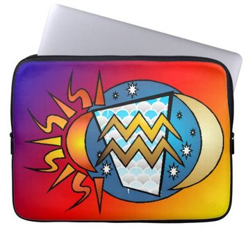 astrology,Aquarius Laptop Sleeve