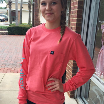 """Simply Southern """"The Classic"""" Long Sleeve - Coral"""