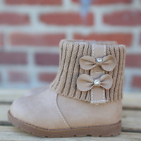 Ariel Bootie by Lucky Top {Taupe}