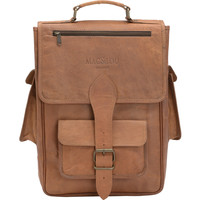 Mac&Lou Livius Leather Backpack - Brown