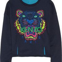 KENZO | Tiger embroidered cotton sweatshirt | NET-A-PORTER.COM