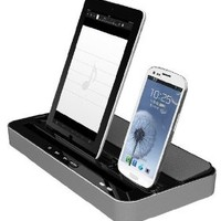 Multi-Function Docking Station Charger Speaker for iPad 2 3 4 & iPhone 4 5 5C 5S & Samsung Galaxy S3 & S4 - by Cloud Accessories ©