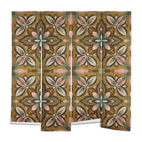 Pimlada Phuapradit Floral tile in yellow ochre Wall Mural