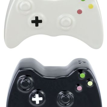 Ceramic Game Controller Gamer Salt & Pepper Shaker Set
