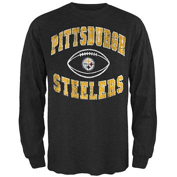 Pittsburgh Steelers - Logo Scrum Premium Long Sleeve T-Shirt