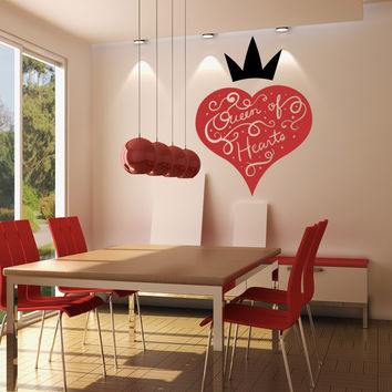 Vinyl Wall Decal Sticker Queen of Hearts Design #OS_MB1191