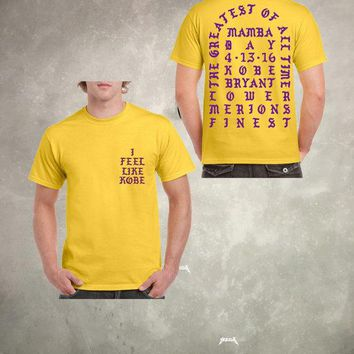 the greatest of all time quot i feel like kobe mamba day pablo t shirt  number 1