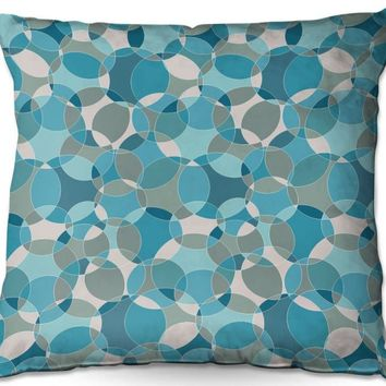 Outdoor Pillows By Julia Grifol Bubbles Blue