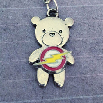 Fastest Bear Alive Necklace, Superhero Necklace, Superhero Jewelry, Fandom Jewelry, Fangirl Jewelry, Fastest Man Alive