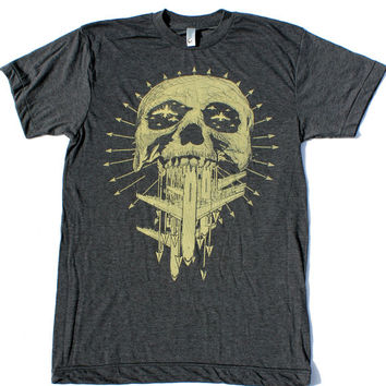 Mens SKULL american apparel Tshirt S M L XL by darkcycleclothing