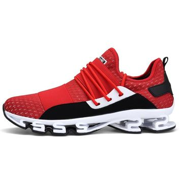 Outdoor Sports Shoes 2018 New Design Soles Running Shoes for Men Breathable Cushioning Men Sneakers Athletic Shoes Male