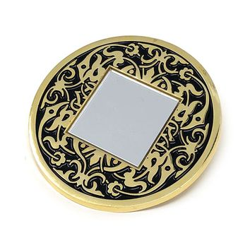 Ornate Mirror Pin Brooch
