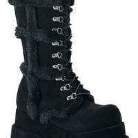 BEAR-202 Fauxfur Platform Boots - Platform boots, Gothic boots and Steampunk boots at Rivithead