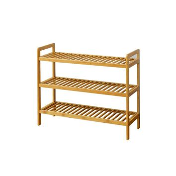 Three Tier Bamboo Shoes Rack By Urban Port