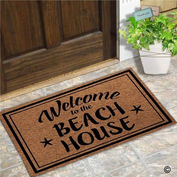 Autumn Fall welcome door mat doormat Funny  Entrance Floor Mat Welcome To The Beach House Unique Design Decorative Indoor Outdoor  Non-woven Fabric AT_76_7
