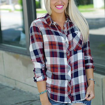 Fair & Square Plaid Top